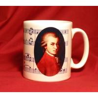 Mozart Musical Design Ceramic Mug Classical Music Gift